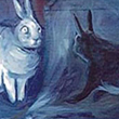 Blue Rabbits-Painting, 1999