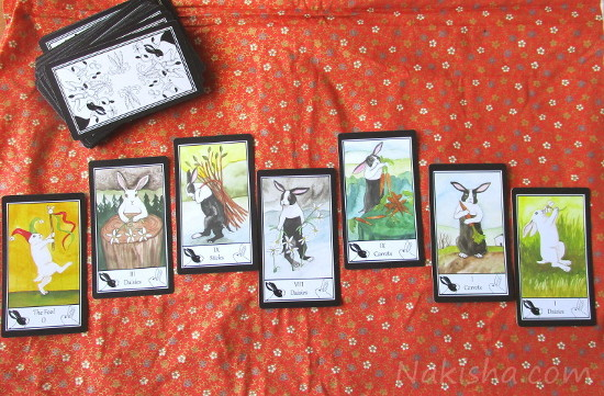 Seven card Spread the Rabbit Tarot