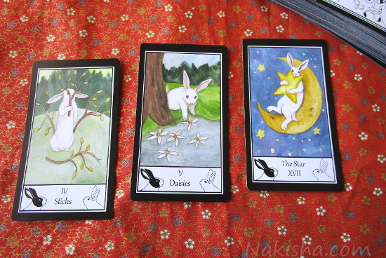Three card Spread the Rabbit Tarot
